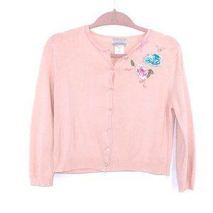 Vintage Peach Cropped Grandma sweater Size 6